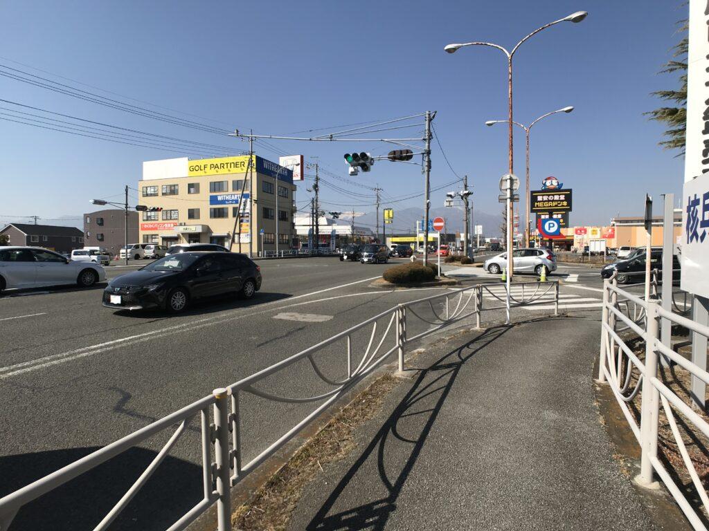 市場南入口 国道20号石和方面